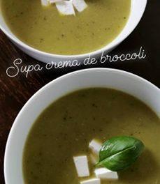 Reteta simpla de supa crema de mazare si broccoli